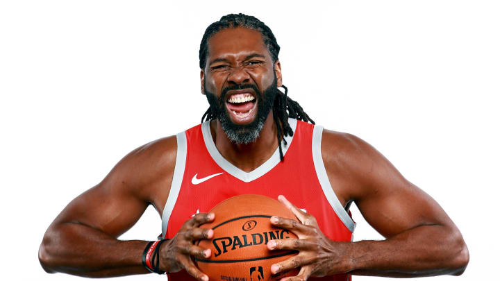 HOUSTON, TX – SEPTEMBER 24: Nene Hilario #42 of the Houston Rockets poses for a portrait during the Houston Rockets Media Day at The Post Oak Hotel at Uptown Houston on September 24, 2018 in Houston, Texas. NOTE TO USER: User expressly acknowledges and agrees that, by downloading and or using this photograph, User is consenting to the terms and conditions of the Getty Images License Agreement. (Photo by Tom Pennington/Getty Images)