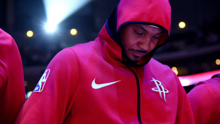 Carmelo Anthony #7 of the Houston Rockets (Photo by Andrew D. Bernstein/NBAE via Getty Images)