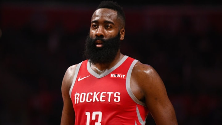 Houston Rockets Guard James Harden (13) (Photo by Brian Rothmuller/Icon Sportswire via Getty Images)