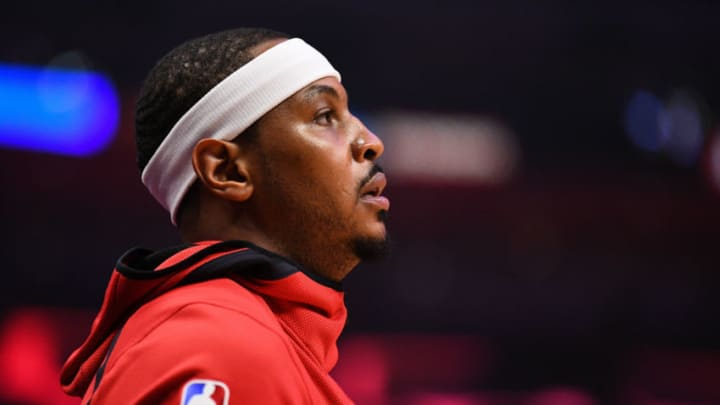 Houston Rockets Forward Carmelo Anthony (7) (Photo by Brian Rothmuller/Icon Sportswire via Getty Images)