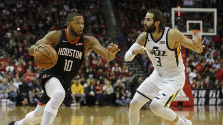 Eric Gordon #10 of the Houston Rockets (Photo by Tim Warner/Getty Images)