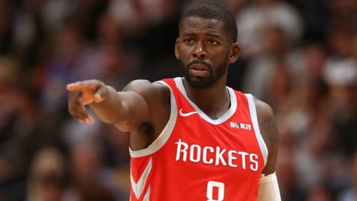 James Ennis #8 of the Houston Rockets (Photo by Matthew Stockman/Getty Images)