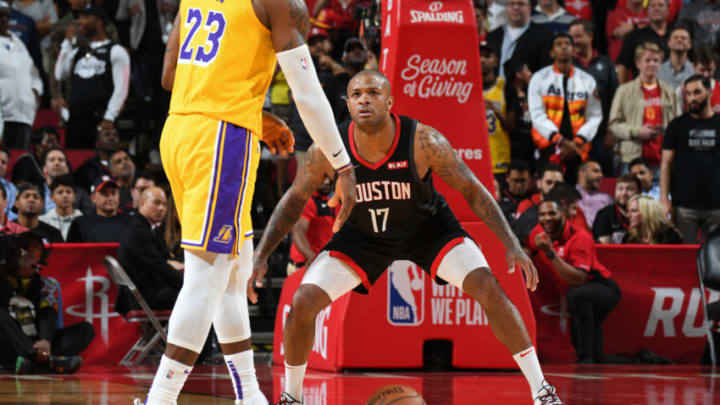 PJ Tucker #17 of the Houston Rockets (Photo by Andrew D. Bernstein/NBAE via Getty Images)