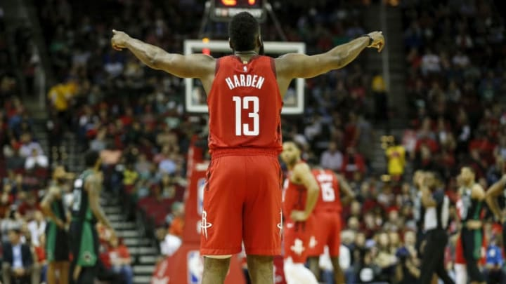 James Harden #13 of the Houston Rockets (Photo by Tim Warner/Getty Images)