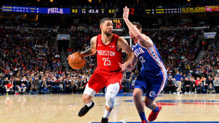 Austin Rivers #25 of the Houston Rockets (Photo by Jesse D. Garrabrant/NBAE via Getty Images)