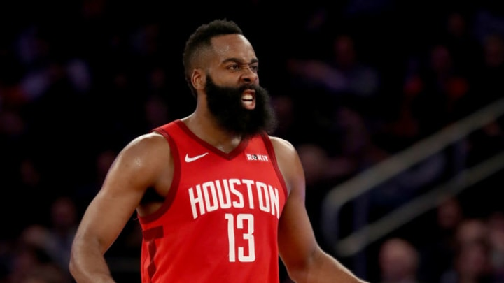 James Harden #13 of the Houston Rockets (Photo by Elsa/Getty Images)