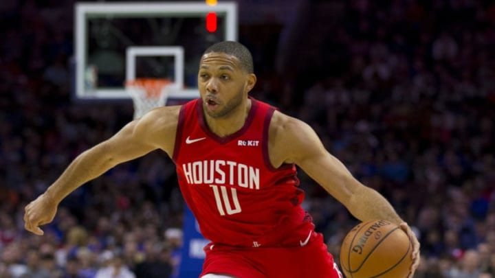 Eric Gordon #10 of the Houston Rockets (Photo by Mitchell Leff/Getty Images)