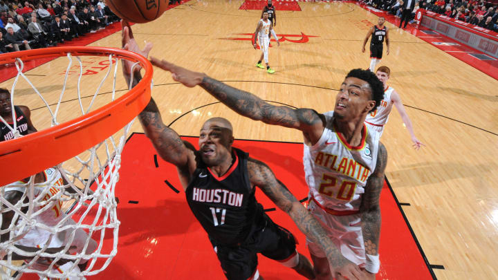 Houston Rockets John Collins (Photo by Bill Baptist/NBAE via Getty Images)