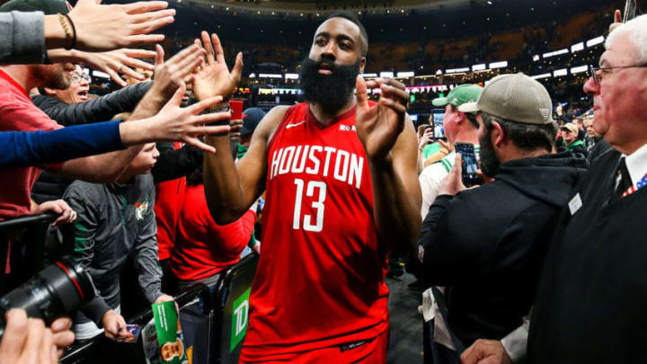 James Harden #13 of the Houston Rockets (Photo by Adam Glanzman/Getty Images)