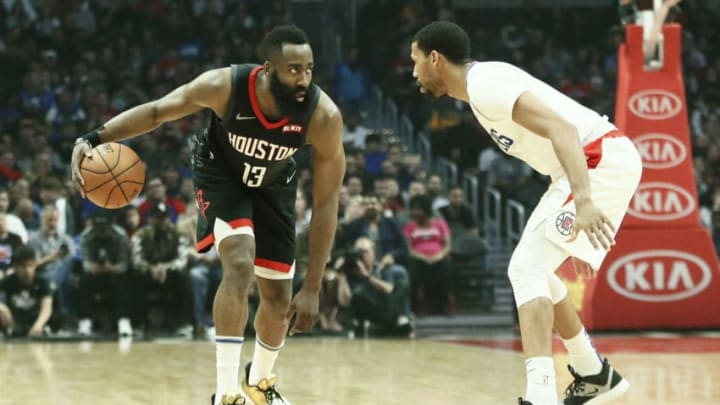 James Harden #13 of the Houston Rockets (Photo by Chris Elise/NBAE via Getty Images)
