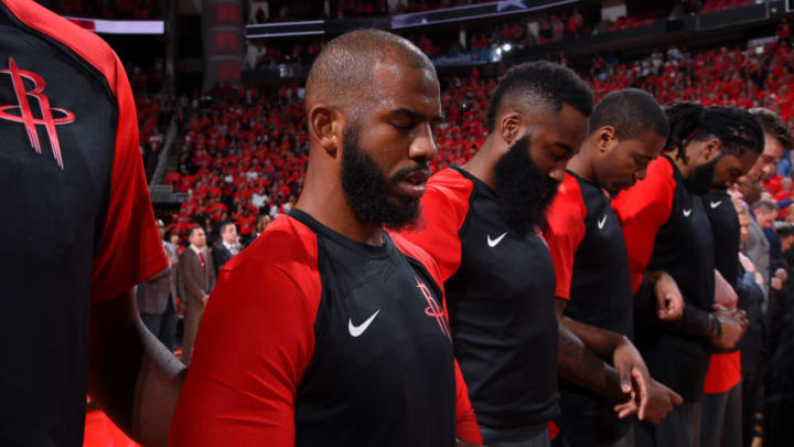 Chris Paul #3 of the Houston Rockets 2019 (Photo by Bill Baptist/NBAE via Getty Images)
