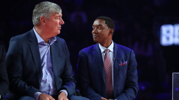 Isiah Thomas Bill Laimbeer (Photo by Gregory Shamus/Getty Images)