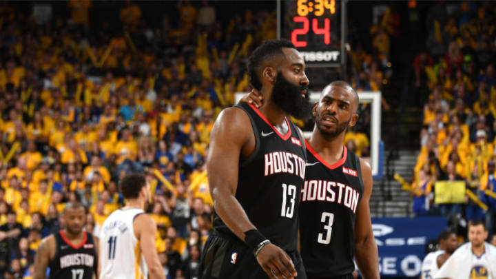 Houston Rockets James Harden Chris Paul (Photo by Andrew D. Bernstein/NBAE via Getty Images)