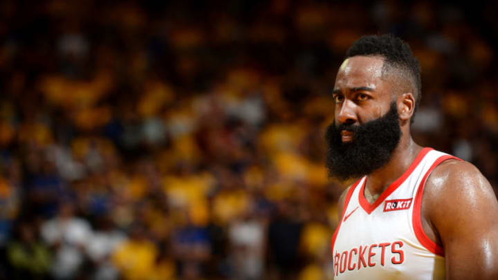 James Harden #13 of the Houston Rockets (Photo by Noah Graham/NBAE via Getty Images)