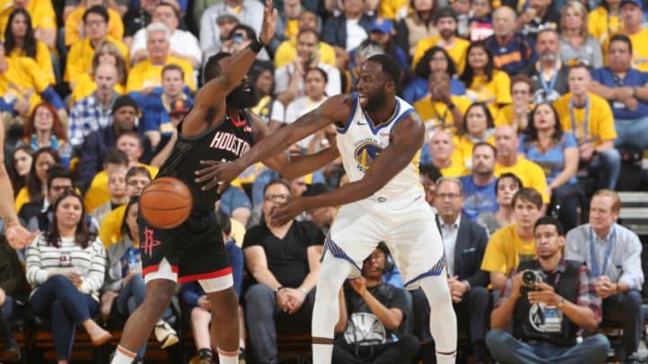 Houston Rockets James Harden Draymond Green (Photo by Joe Murphy/NBAE via Getty Images)