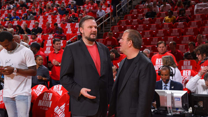 Houston Rockets General Manager Daryl Morey and Houston Rockets (Photo by Bill Baptist/NBAE via Getty Images)