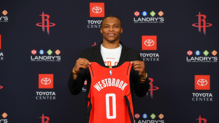 Russell Westbrook Houston Rockets (Photo by Bill Baptist/NBAE via Getty Images)