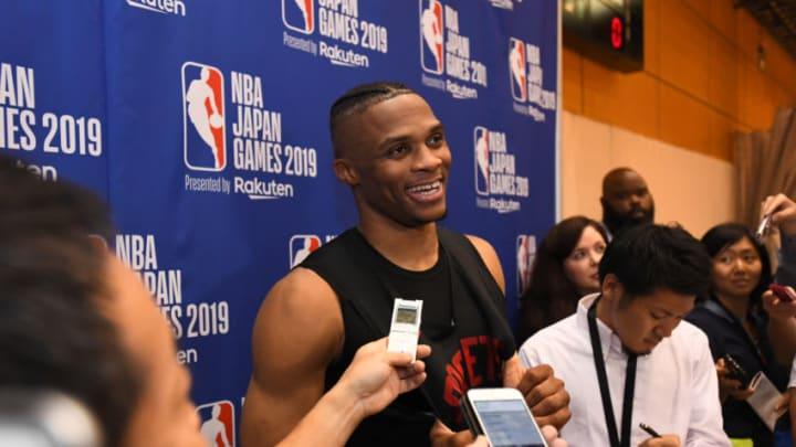 Houston Rockets Russell Westbrook (Photo by Garrett W. Ellwood/NBAE via Getty Images)