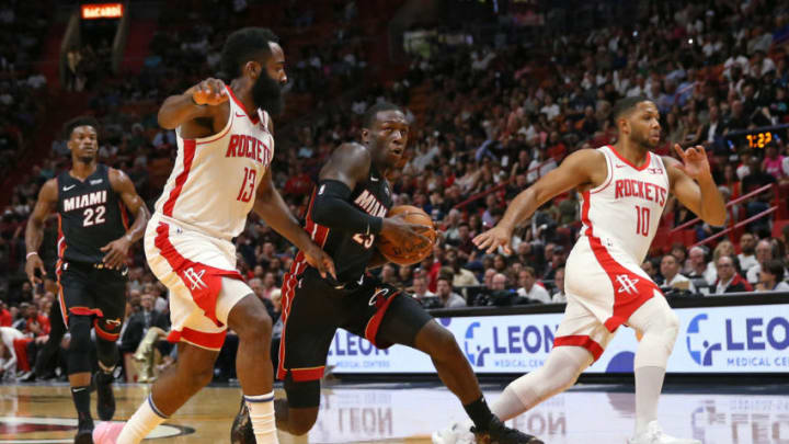 Houston Rockets James Harden Eric Gordon Kendrick Nunn (David Santiago/Miami Herald/Tribune News Service via Getty Images)
