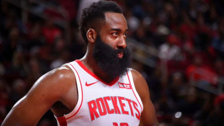 James Harden #13 of the Houston Rockets (Photo by Bill Baptist/NBAE via Getty Images)