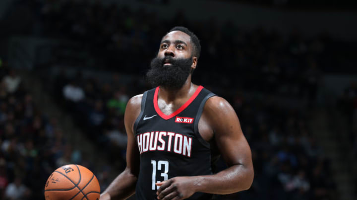 James Harden #13 of the Houston Rockets (Photo by David Sherman/NBAE via Getty Images)
