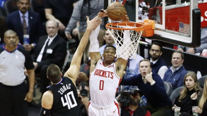 Houston Rockets Russell Westbrook (Photo by Chris Elise/NBAE via Getty Images)