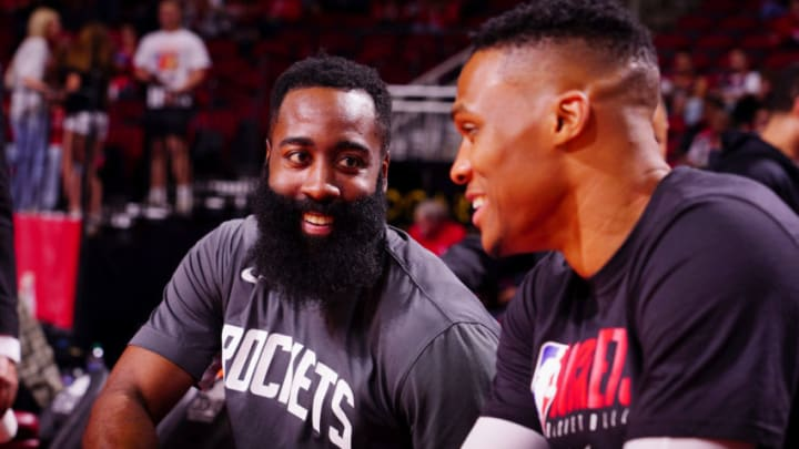 Houston Rockets Russell Westbrook James Harden (Photo by Cato Cataldo/NBAE via Getty Images)