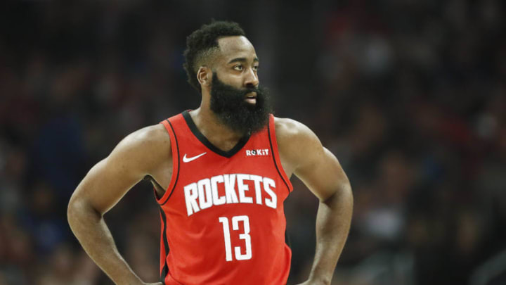 James Harden Houston Rockets (Photo by Chris Elise/NBAE via Getty Images)