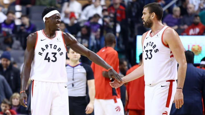 Pascal Siakam Marc Gasol (Photo by Vaughn Ridley/Getty Images)