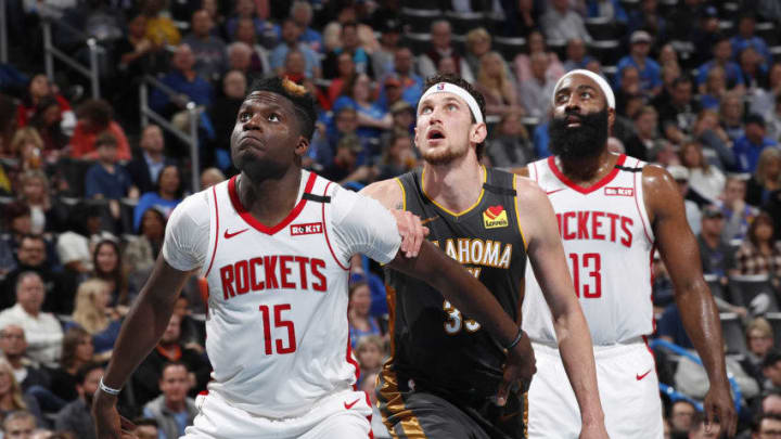 Houston Rockets Clint Capela James Harden (Photo by Jeff Haynes/NBAE via Getty Images)