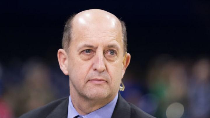 ESPN analyst Jeff Van Gundy (Photo by Mitchell Leff/Getty Images)