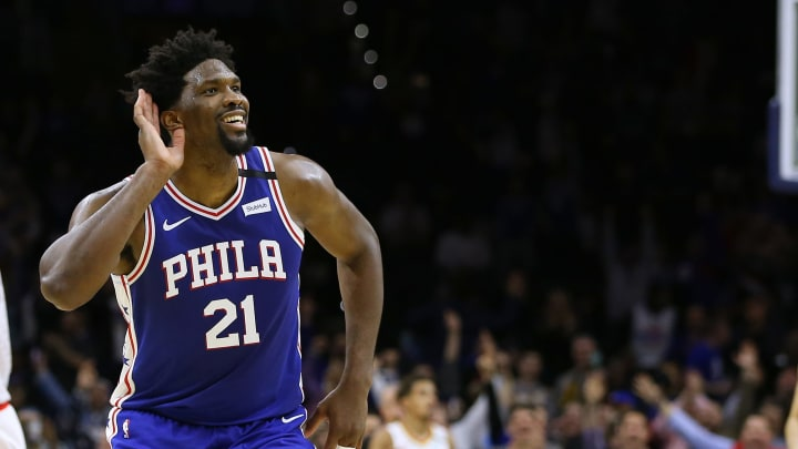 Joel Embiid of the Philadelphia 76ers (Photo by Rich Schultz/Getty Images)