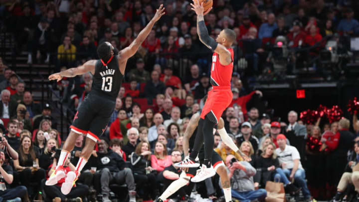 Damian Lillard James Harden (Photo by Abbie Parr/Getty Images)