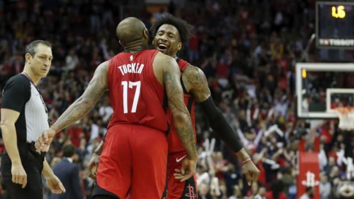 Houston Rockets P.J. Tucker Robert Covington (Photo by Tim Warner/Getty Images)