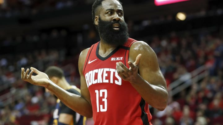 James Harden of the Houston Rockets (Photo by Tim Warner/Getty Images)