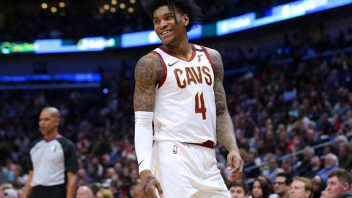 NEW ORLEANS, LOUISIANA - FEBRUARY 28: Kevin Porter Jr. #4 of the Cleveland Cavaliers reacts against the New Orleans Pelicans during the second half at the Smoothie King Center on February 28, 2020 in New Orleans, Louisiana. NOTE TO USER: User expressly acknowledges and agrees that, by downloading and or using this Photograph, user is consenting to the terms and conditions of the Getty Images License Agreement. (Photo by Jonathan Bachman/Getty Images)