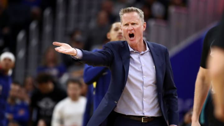 Head coach Steve Kerr of the Golden State Warriors (Photo by Ezra Shaw/Getty Images)