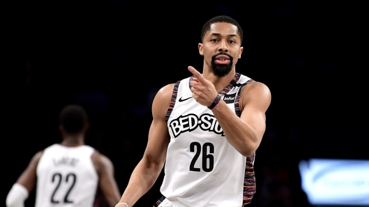Spencer Dinwiddie of the Brooklyn Nets (Photo by Steven Ryan/Getty Images)