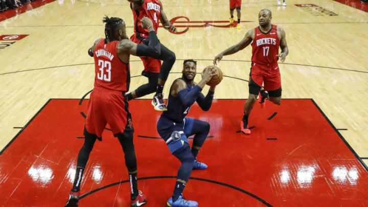 Houston Rockets Robert Covington Danuel House P.J. Tucker (Photo by Tim Warner/Getty Images)