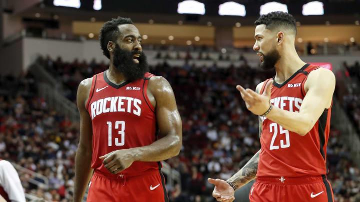Houston Rockets James Harden Austin Rivers (Photo by Tim Warner/Getty Images)