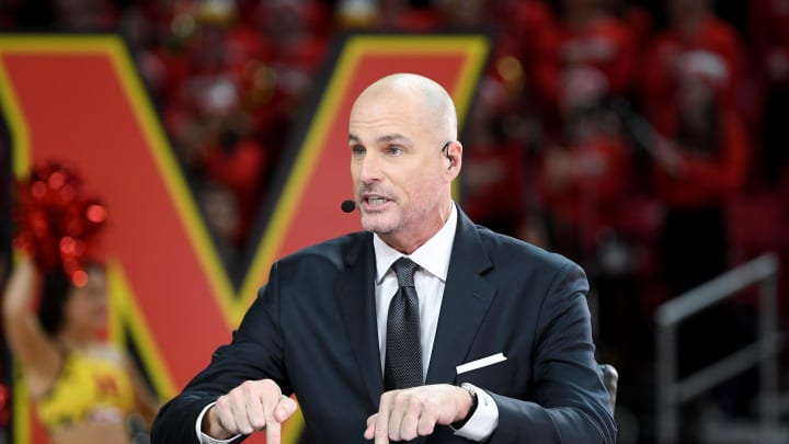 Jay Bilas talks during ESPN College GameDay (Photo by G Fiume/Maryland Terrapins/Getty Images)