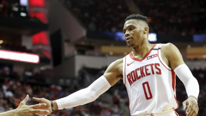 Russell Westbrook #0 of the Houston Rockets (Photo by Tim Warner/Getty Images)