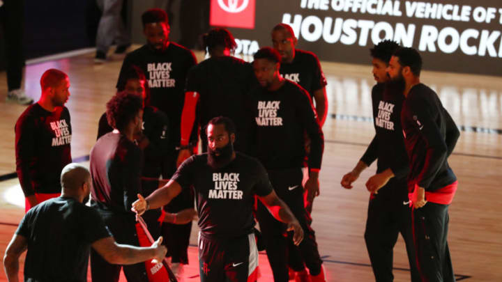 James Harden #13 of the Houston Rockets (Photo by Kim Klement-Pool/Getty Images)