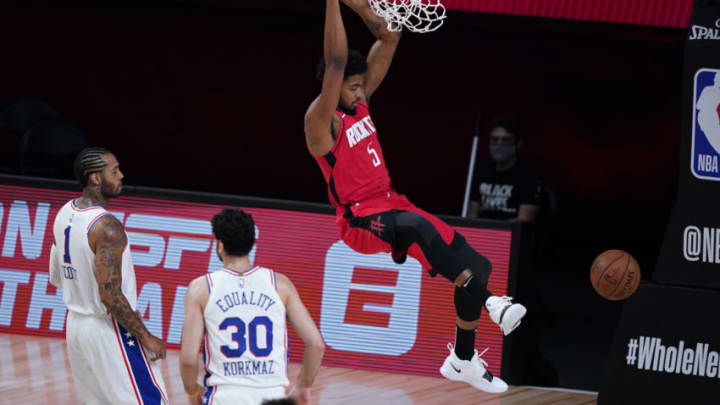 Bruno Caboclo #5 of the Houston Rockets (Photo by Ashley Landis-Pool/Getty Images)