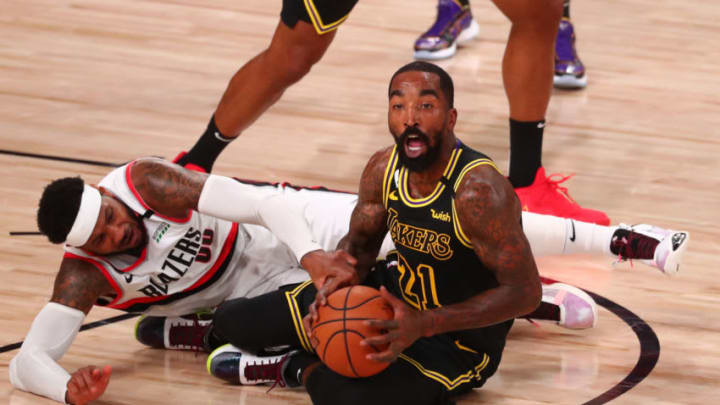 JR Smith #21 of the Los Angeles Lakers (Photo by Kim Klement-Pool/Getty Images)