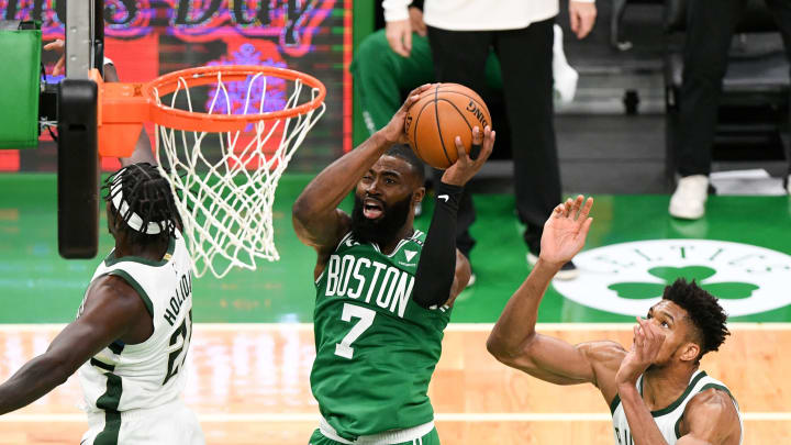 Jaylen Brown #7 of the Boston Celtics (Photo by Brian Fluharty-Pool/Getty Images)