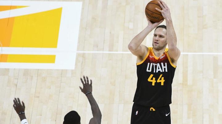 Bojan Bogdanovic #44 of the Utah Jazz (Photo by Alex Goodlett/Getty Images)