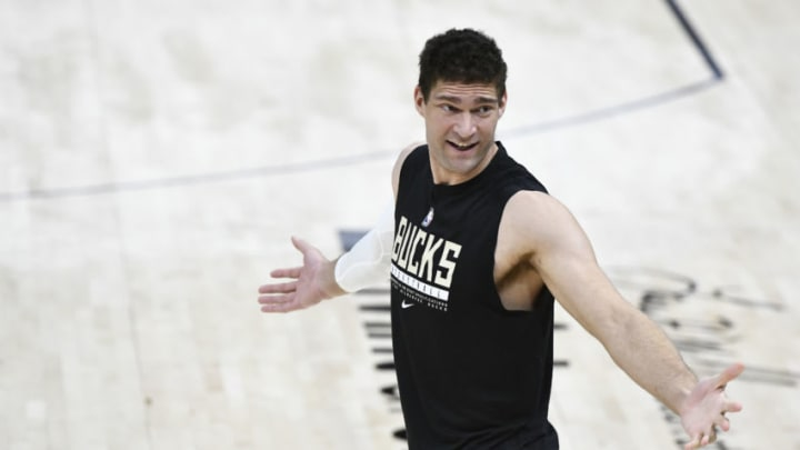 Brook Lopez #11 of the Milwaukee Bucks (Photo by Alex Goodlett/Getty Images)
