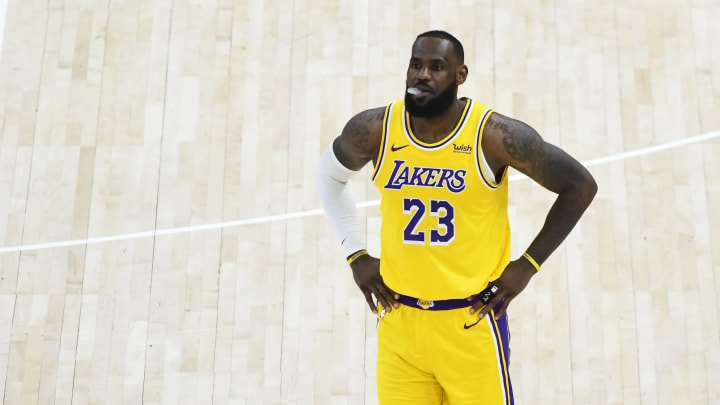 LeBron James #23 of the Los Angeles Lakers (Photo by Alex Goodlett/Getty Images)