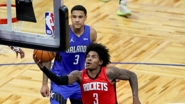 Kevin Porter Jr. #3 of the Houston Rockets (Photo by Alex Menendez/Getty Images)